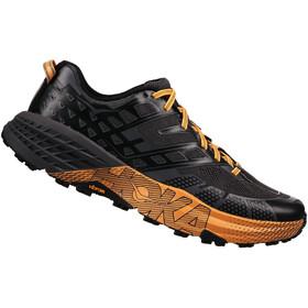 Hoka One One M's Speedgoat 2 Running Shoes Black/Kumquat